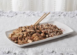 PHOTO BY SIMONA CARINI - Tofu and cremini mushrooms with fragrant Chinese five spice.