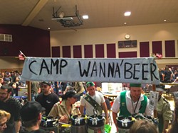 PHOTO BY GRANT SCOTT-GOFORTH - The Camp Wanna'Beer troupe with its Girl Scout cookie-inspired brews.