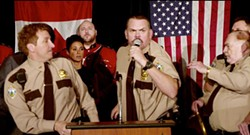 SUPER TROOPERS 2 - When you're the only one at karaoke who loves Taylor Swift's Earth Wind and Fire cover.