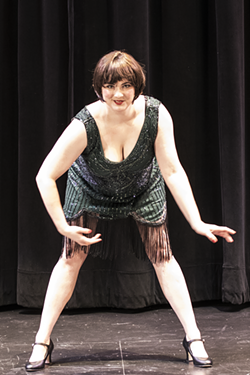 "PHOTO CREDIT: DILLON SAVAGE - Alexandra Blouin as ""Velma"" in Ferndale Repertory Theatre's production of ""Chicago."" Directed by Patrick Spike, choreographed by Patrick Spike and Alexandra Blouin, with musical direction by Molly Severdia, ""Chicago"" runs May 4 through June 3, 2018."
