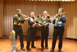 Trombonists George Epperson, Doug Hendricks, Phil Sams and Dick LaForge