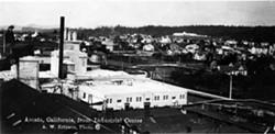 Arcata Creamery, circa 1920. Photo Credit: Ericson Collection, Humboldt State University.