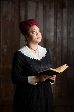 COURTESY OF REDWOOD CURTAIN THEATRE - Taiquira Williams as the aptly named Maude Lynn in The House That Will Not Stand.