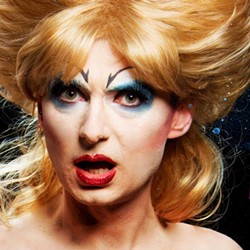 COURTESY OF NORTH COAST REPERTORY THEATRE - Morgan Cox goes glam rock in Hedwig and the Angry Inch.