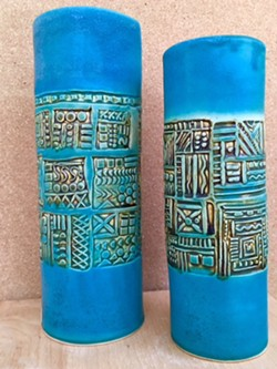SUBMITTED - Turquoise vases by Natalie DiCostanzo