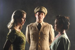 PHOTO COURTESY OF REDWOOD CURTAIN. - Valerie Buxbaum, Josh Kelly and Denise Truong in the excellent Redwood Curtain production of Far East.