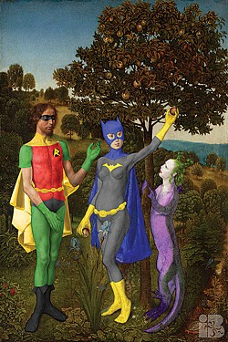 """Van der Goe's Fall of Batgirl and Robin"" by Isaac Bluefoot."