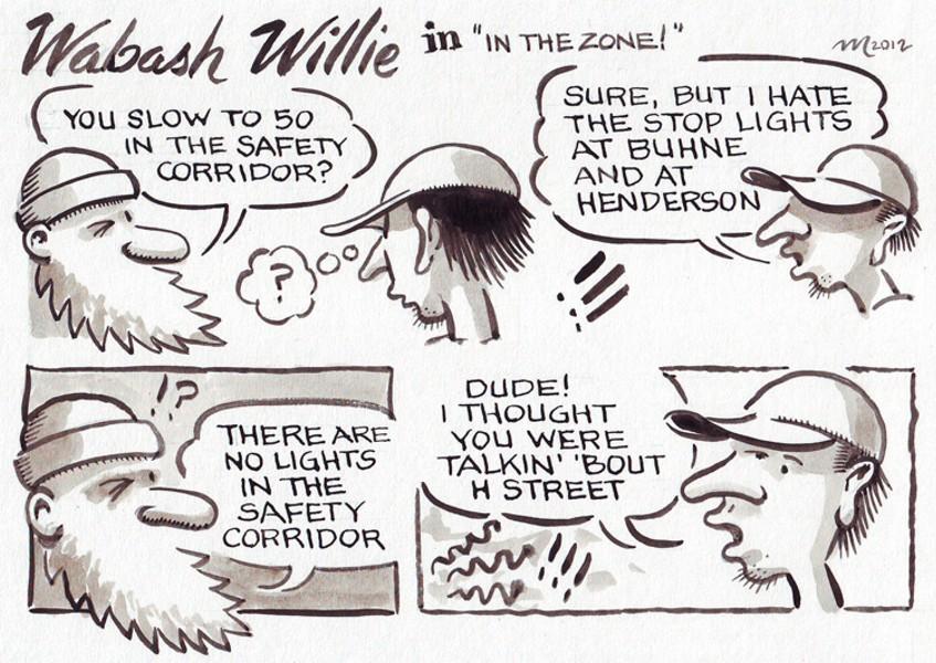 "Wabash Willie in ""In The Zone!"" - JOEL MIELKE"