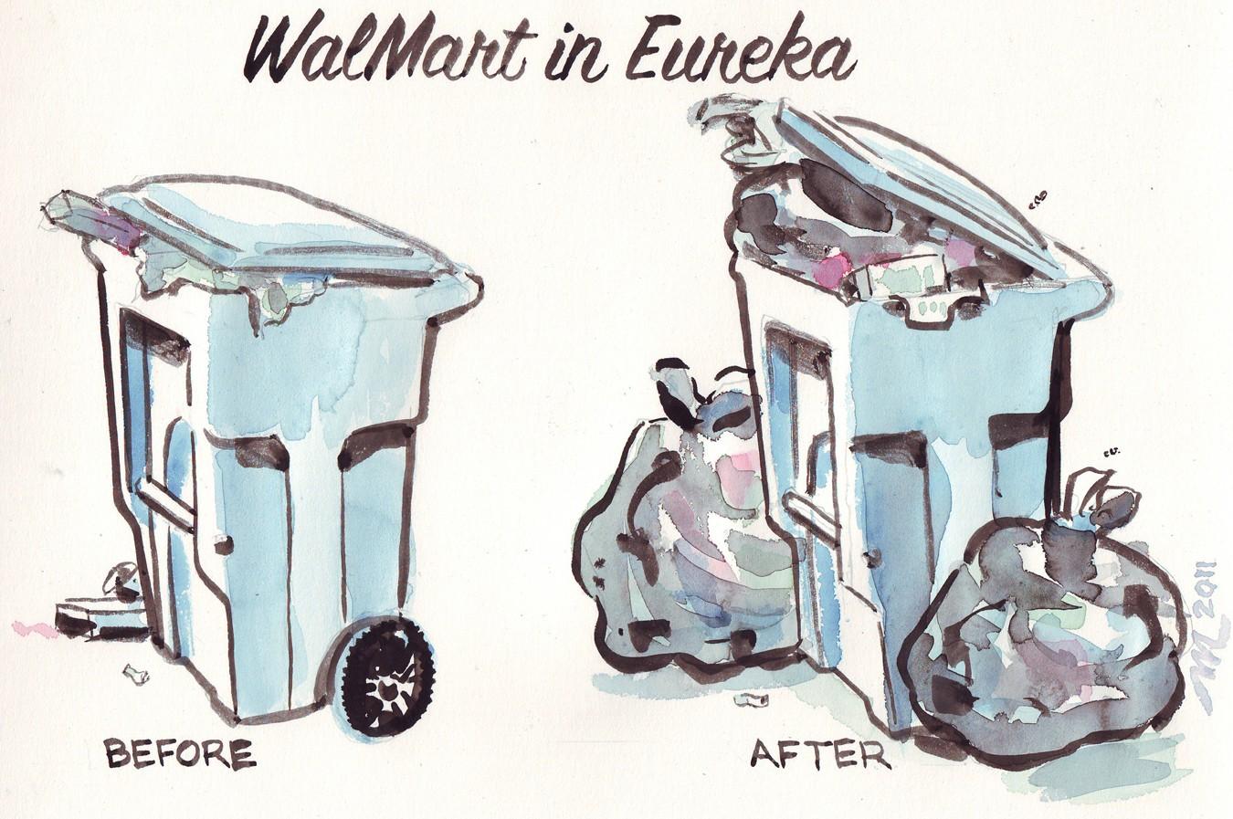 Walmart in Eureka - CARTOON BY JOEL MILEKE