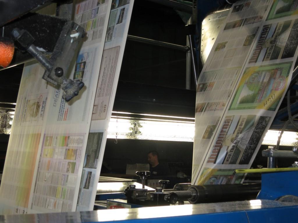 Webs running into a folder. - BARRY EVANS