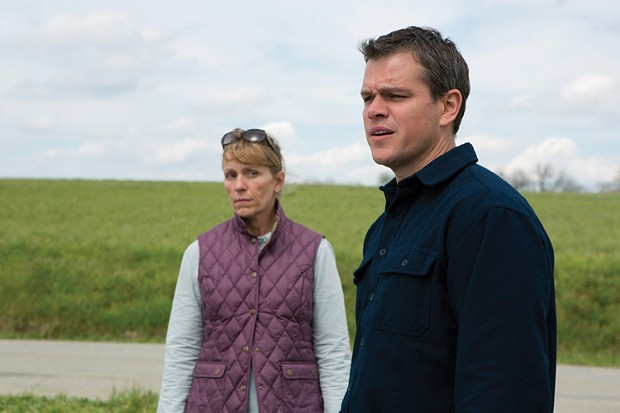 """""""Where can you get a good doughnut around here?"""" Damon and McDormand in Promised Land."""