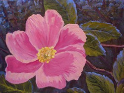 PAINTING BY RICK TOLLEY - Wood Rose