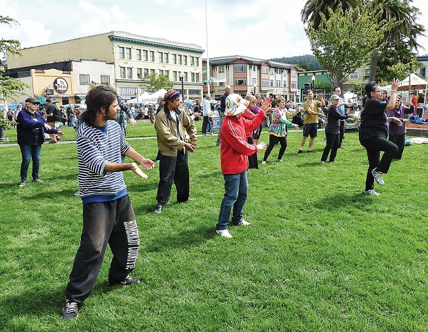 World Tai Chi Healing Day was celebrated in more than 70 countries on April 26. In Humboldt it was marked by a morning of movement on the Arcata Plaza during the North Coast Growers Association's Farmers Market. - PHOTOS BY BOB DORAN
