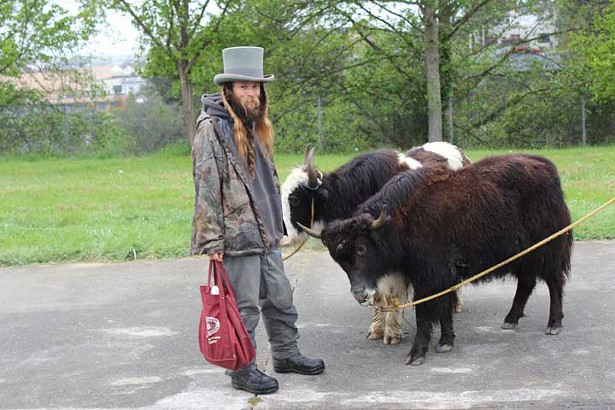 Yak Man with top hat - PHOTO BY BOB DORAN