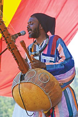 Youssoupha Sidibe at Reggae Rising. Photo by Bob Doran.