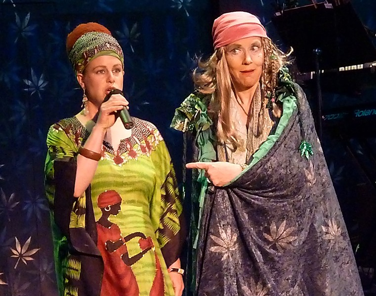 Zuzka Sabata and Joan Schirle in Dell'Arte's Mary Jane, an example of theater of place, but not the only kind of local theater - PHOTO BY BOB DORAN