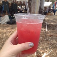 Linnaea's Cafe's Creamy Caramel Spiced Apple Cider and SloCo Pasty Company's Watermelon Mint Cooler