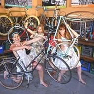 Bike-themed fashion hits the runway
