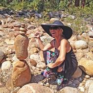 Atascadero artist and photographer Kathy Clarke balances rocks and life