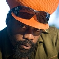 Reggae superstars: Michael Rose with Sly and Robbie lively up SLO Brew