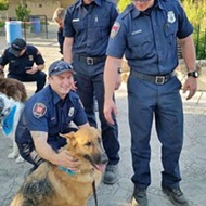 Petting therapy: SLODOG's Caring Canines provide stress relief to firefighters