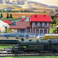 SLO resident Bernd Schumacher sets a Guinness World Record for the largest collection of Z-gauge model trains on Sept. 17 at Beda's Biergarten