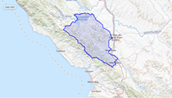 UNDERGROUND MYSTERY A U.S. Geological Survey study will aim to better understand the groundwater conditions in the Adelaida region west of Paso Robles. - MAP COURTESY OF THE US GEOLOGICAL SURVEY