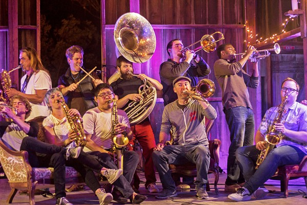 PHAT AND SASSY Hard pop brass act Brass Mash will play a livestream concert on Aug. 22, at part of Atascadero's Summer Concert series. - PHOTO COURTESY OF BRASS MASH