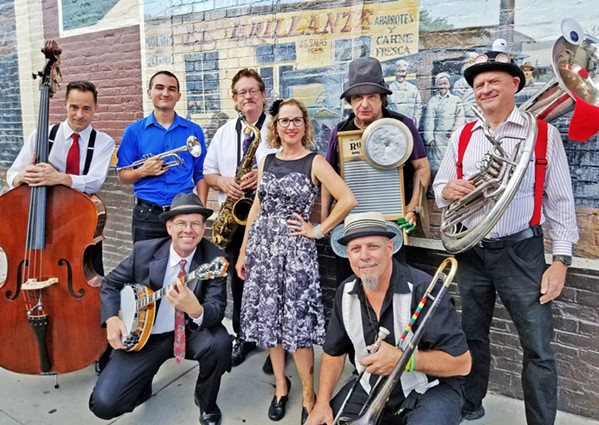 PROHIBITION-ERA SOUNDS The Barrelhouse Wailers play an Aug. 30 livestream concert of 1920s and '30s hot jazz and blues, brought to you by the Basin Street Regulars. - PHOTO COURTESY OF THE BARRELHOUSE WAILERS