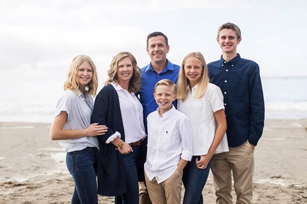 RUNNING FOR CITY COUNCIL Pismo Beach City Council candidate Scott Newton with his family. - FILE PHOTO COURTESY OF SCOTT NEWTON