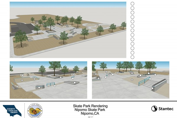 CLOSE TO CONSTRUCTION Skateboarders will soon have a designated park in Nipomo as SLO County nears its funding goal with a slated construction date of next year. - PHOTO COURTESY OF THE SLO COUNTY PARKS AND RECREATION