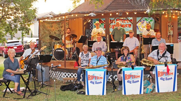 JAZZ YOU UP The Basin Street Regulars presents the Riptide Little Big Band livestreamed from the Cardinal gazebo on Sept. 27. - PHOTO COURTESY OF THE RIPTIDE BIG BAND