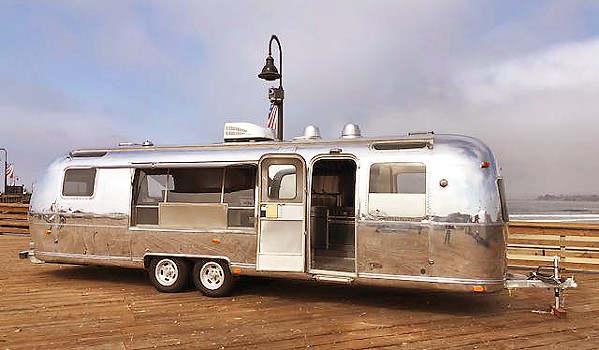 SUNSETS AT THE PIER One of three vintage Airstreams purchased by the city of Pismo Beach will be used as Rib Line's newest location, a food truck serving street food, beer, and wine right on the Pismo pier. - PHOTO COURTESY OF THE CITY OF PISMO BEACH