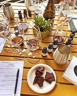 SAVOR THE FLAVOR ONX Wines is bringing Sweet Creations chocolate to its Harvest Wine Weekend tasting table. - PHOTO COURTESY OF ONX WINES