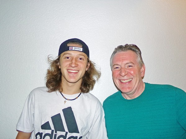 """HIP-HOPPERS The Journals, featuring Dylan Krause and his father, John, recently released a new song written in quarantine, """"Tricks,"""" available on their Soundcloud site. - PHOTO COURTESY OF THE JOURNALS"""