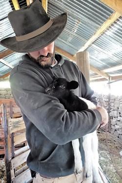 FLOCK CARE Shepard Nathan Stewart ensures that Tablas Creek treats its animals well, helping the vineyard align with the Regenerative Organic Certification's animal welfare pillar. - PHOTOS COURTESY OF TABLAS CREEK VINEYARD