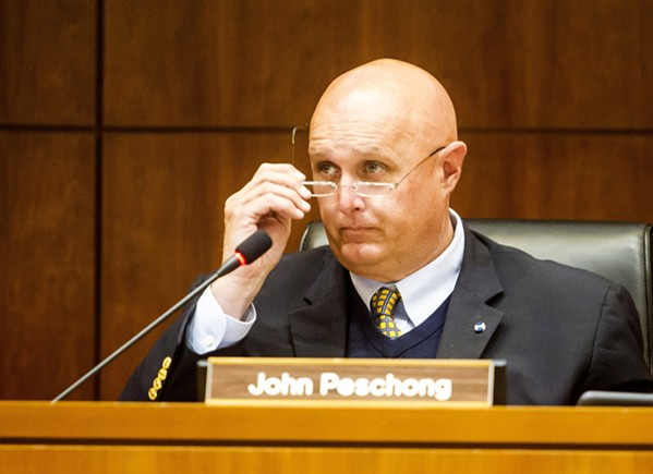 RAISING THE BAR First District SLO County Supervisor John Peschong suggested local campaign finance regulations that will allow for larger donations than in state office races. - FILE PHOTO BY JAYSON MELLOM