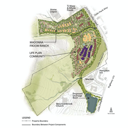 NEW DEVELOPMENT A recent lawsuit is challenging the approval of Froom Ranch (pictured), which would add hundreds of residential units to SLO's southeastern edge. - IMAGE COURTESY OF THE CITY OF SLO