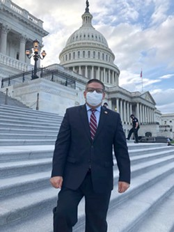 CONTINUED REPRESENTATION U.S. Rep. Salud Carbajal (D-Santa Barbara) is in a steady lead to securing his 24th District seat, pledging to continue being a bipartisan representative. - PHOTO COURTESY OF CONGRESSMAN SALUD CARBAJAL'S FACEBOOK PAGE