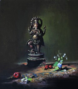 GANESH Mayr's interest in Eastern philosophies comes through in this painting of the Hindu remover-of-obstacles god. - COURTESY IMAGE BY JASON MAYR