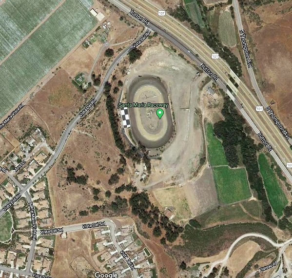NOISY NEIGHBORS The Santa Maria Raceway has been hosting stock car races for years, but neighbors up the road on Vista Del Rio say the venue's recent addition of concerts and other events is causing a nuisance. - SCREENSHOT FROM GOOGLE MAPS