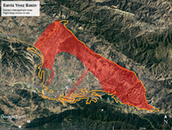 NEW TECH To better manage water in the Santa Ynez River Valley Groundwater Basin, local agencies are collaborating on using aerial technology to understand the area's groundwater resources. - IMAGE COURTESY OF SANTA YNEZ RIVER VALLEY GROUNDWATER BASIN