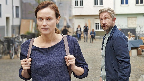 DANGER EVERYWHERE Mossad operative, Rachel (Diane Kruger), walks away from her handler, Thomas (Martin Freeman), in the 2019 spy thriller, The Operative, screening on HBO. - PHOTO COURTESY OF BLACK BEAR PICTURES