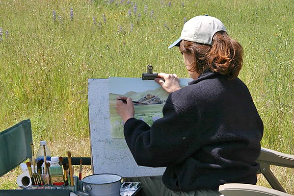 ON LOCATION Grover Beach artist Rosanne Seitz travels throughout the county to paint remote but breathtaking scenes. - PHOTO COURTESY OF ROSANNE SEITZ