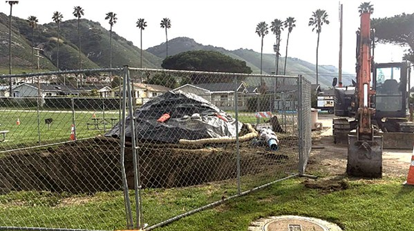 DELAYED According to Pismo Beach city staff, contractor V. Lopez Jr. & Sons started work on a project at Spyglass Park without the proper materials, preventing use of portions of the park for about 14 weeks. - SCREENSHOT FROM PISMO BEACH STAFF REPORT