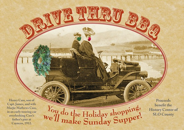HOLIDAY HISTORY The History Center of San Luis Obispo County is holding a drive-through holiday barbecue on Dec. 6 and encouraging people to take advantage of a free walking tour of SLO's historic Eto Park and Brook Street area. - PHOTO COURTESY OF THE HISTORY CENTER OF SAN LUIS OBISPO COUNTY