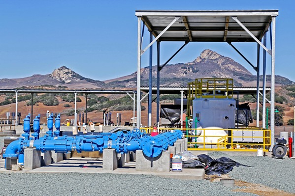 RECYCLE WATER When Los Osos hooked up to a new wastewater plant in 2015, many hoped it would be the beginning of the end of the town's 32-year-old building moratorium. - FILE PHOTO BY DYLAN HONEA-BAUMANN
