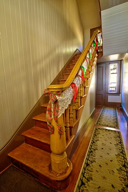 ASCEND The staircase of the main keeper's house leads to bedrooms upstairs. - PHOTOS COURTESY OF THE POINT SAN LUIS LIGHTHOUSE KEEPERS