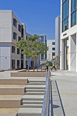 WASTE SURVAILANCE As Cal Poly prepares for its winter quarter amid escalating cases of COVID-19 locally, it plans to up the ante on testing, which could include a COVID-19 wastewater surveillance program. - FILE PHOTO BY JAYSON MELLOM