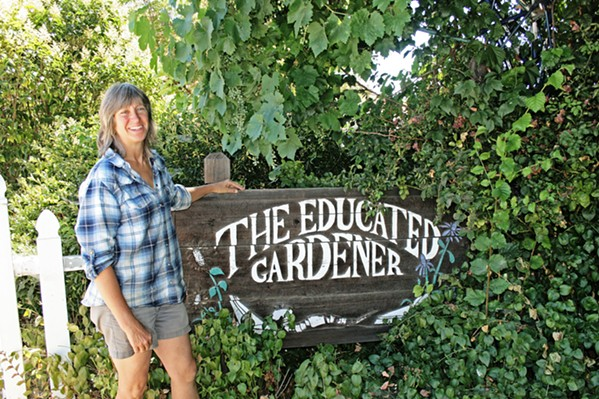 GARDEN ADDITIONS Simone Smith, owner of The Educated Gardener in Santa Margarita, can help you find the perfect gift for your plant-loving friend or relative. - FILE PHOTO BY HAYLEY THOMAS-CAIN